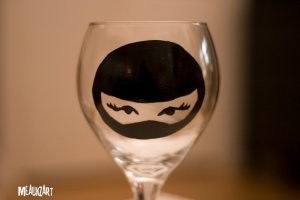 ninja wine glass
